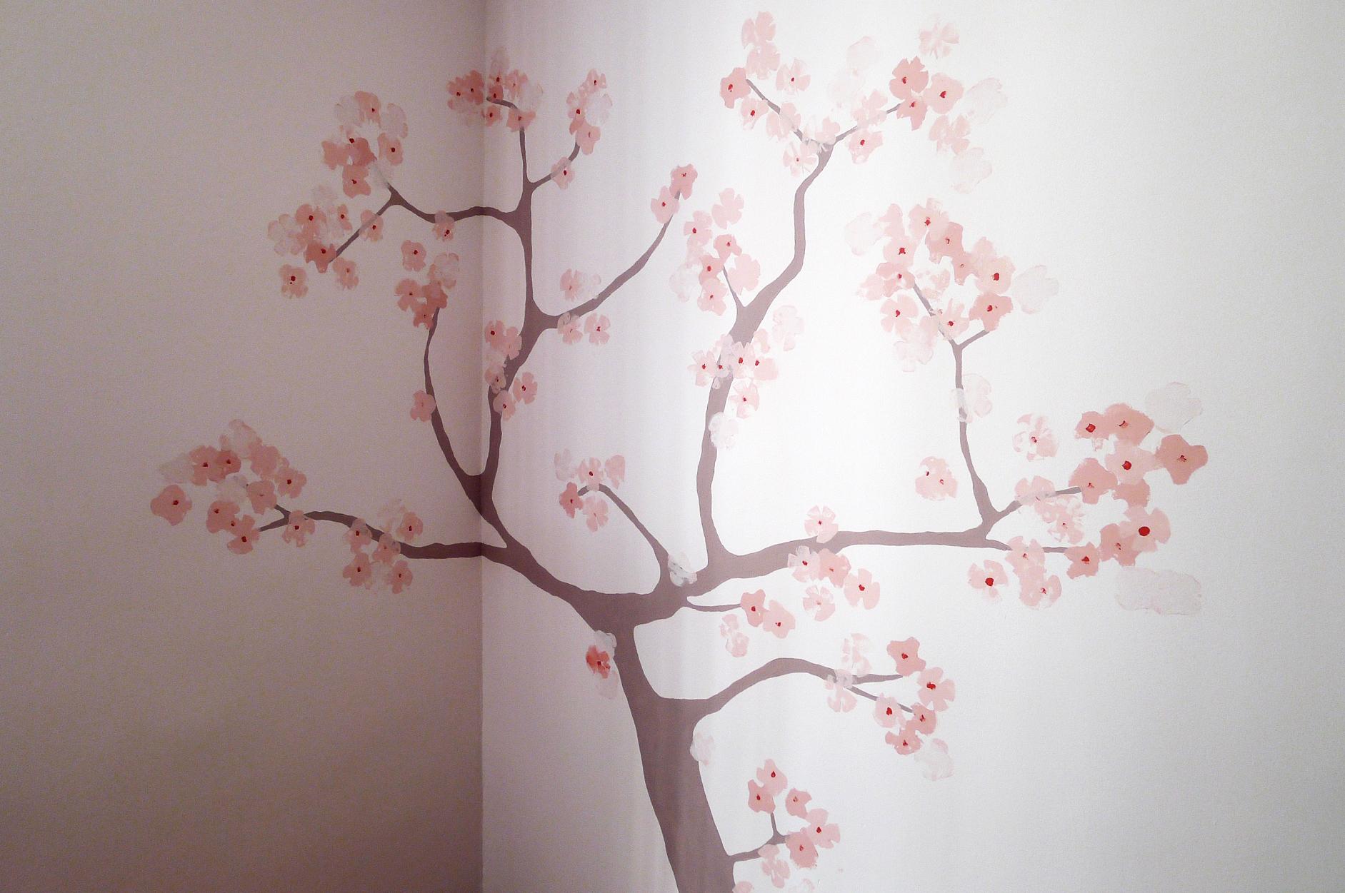 Dibujos de arboles de cerezo imagui for Como pintar un mural exterior