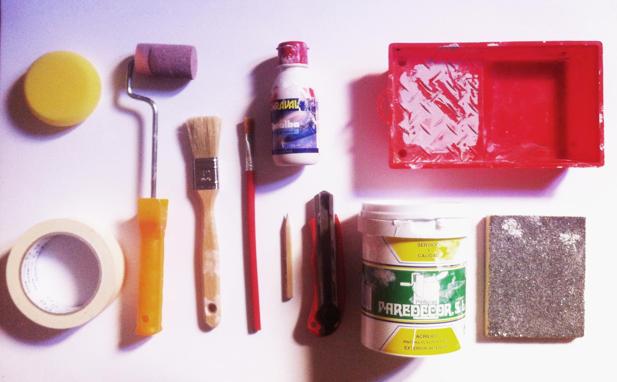 diy la habitaci n de lola f brica de texturas On materiales para pintar un mural