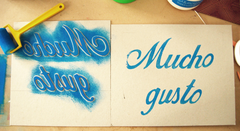 Diy f brica de texturas - Letras para serigrafia ...