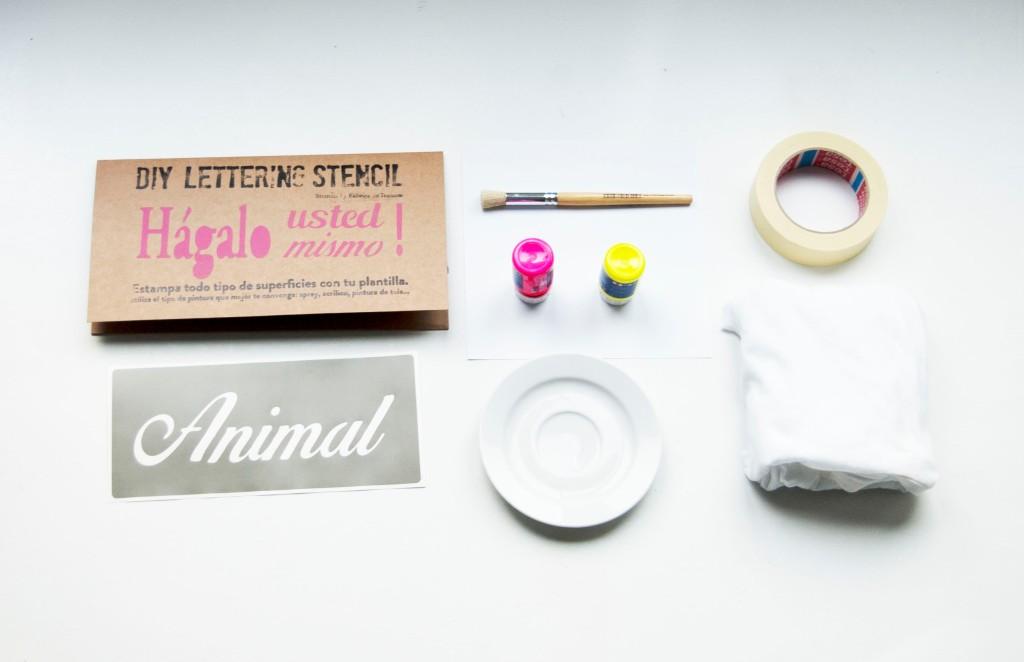 Materials stamp tshirt
