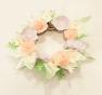 corona flores papel